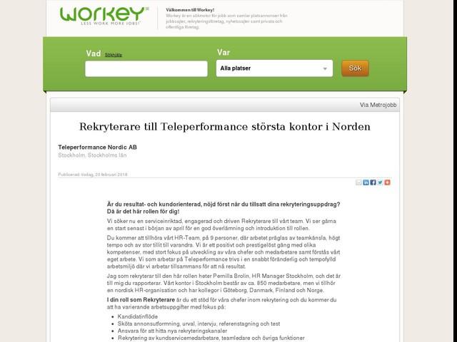 Rekryterare till Teleperformance största kontor i Norden