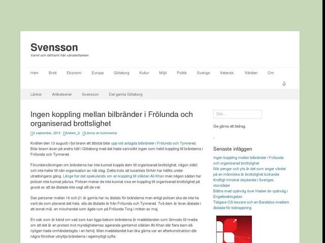 Ingen koppling mellan bilbränder i Frölunda och organiserad brottslighet