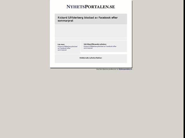 Rickard Söderberg blockad av Facebook efter sommarprat