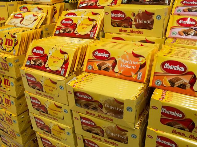 Chokladstölder plågar butikerna
