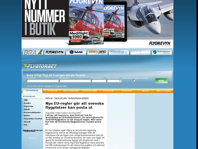 Nya EU-regler gör att svenska flygplatser kan pusta ut