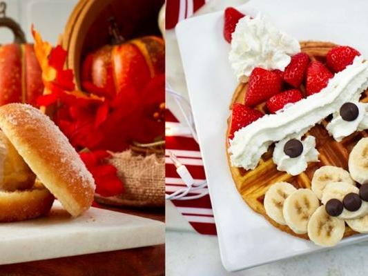 Smiling Santa Waffles - Vivoli il Gelato in Disney Springs is Selling a Santa Waffle This Season (TrendHunter.com)