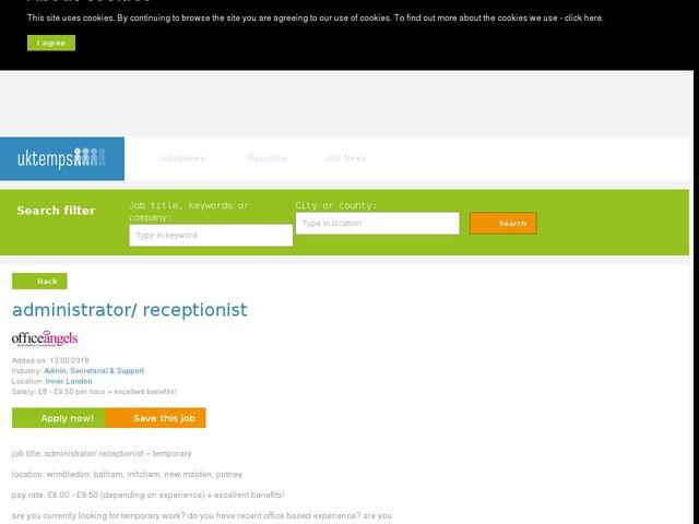 administrator/ receptionist