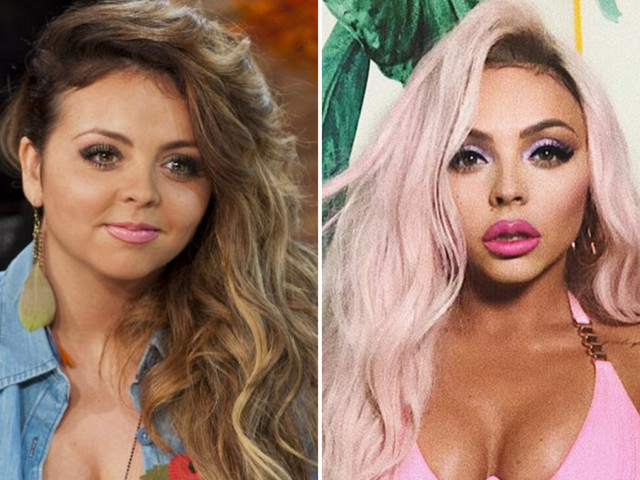Little Mix's Jesy Nelson says she was 'very natural' at start of career before transforming look with plump lips and defined jaw