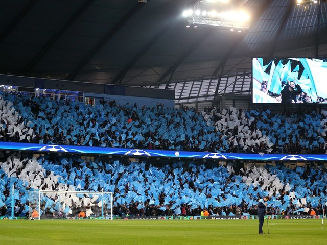 Man City fans raise more than £3,000 for anti-Uefa banner in protest over two-year Champions League ban