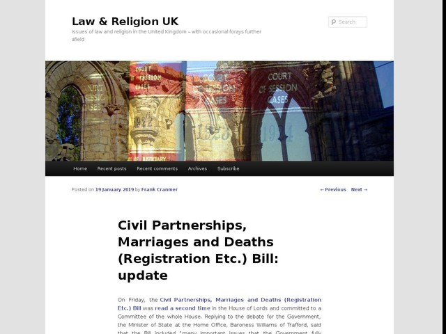 Civil Partnerships, Marriages and Deaths (Registration Etc.) Bill: update