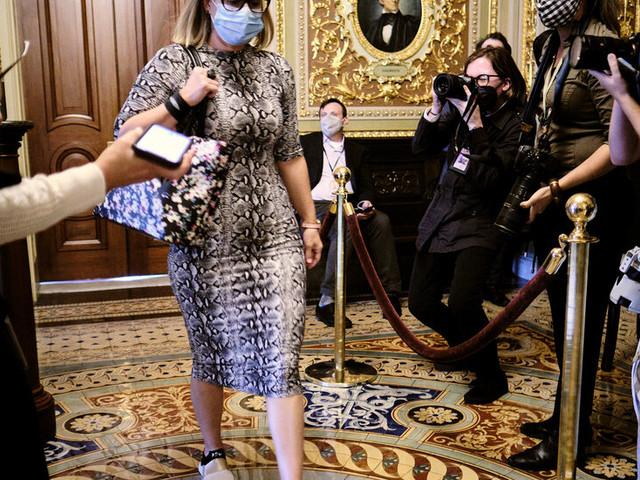 As Budget Bill Hangs in Limbo, Kyrsten Sinema Heads to Europe