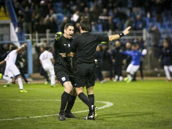 Greek Travesty: Lamia Goalkeeper Nikos Papadopoulos Given Five-Match Suspension For Excitedly Hugging Referee