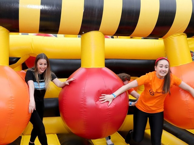 A 200ft long inflatable course is coming to Liverpool this Easter