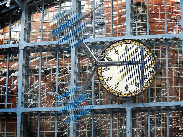 A Spinning Artwork Hovers Over St Pancras
