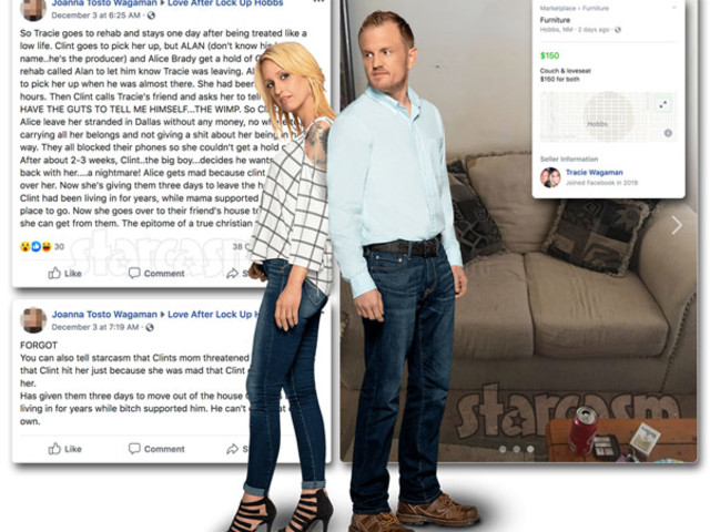 LOVE AFTER LOCKUP Are Clint & Tracie homeless? Reportedly kicked out by his mom, selling off furniture