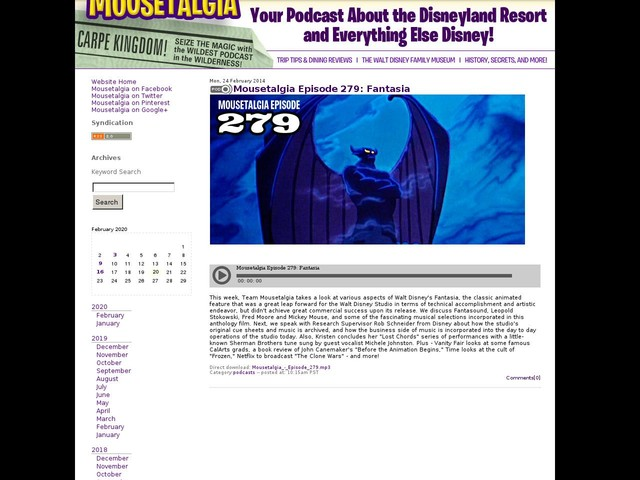 Mousetalgia Episode 279: Fantasia