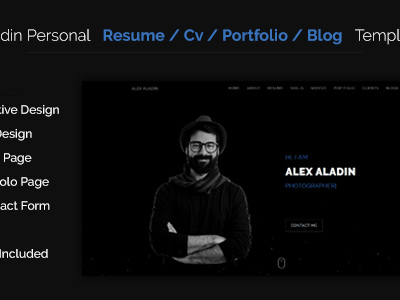 aladin one page cv resume template resume cv other