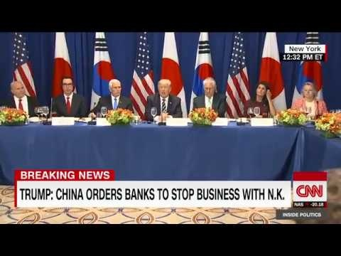 Trump Aims For Trade Crack Down With New Sanctions on North Korea