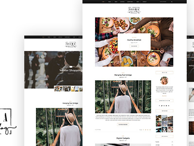 Saara - Personal WordPress Blog Theme (Blog / Magazine)
