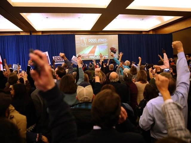 What Doug Jones Supporters Looked Like the Moment He Won