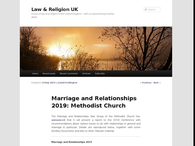 Marriage and Relationships 2019: Methodist Church
