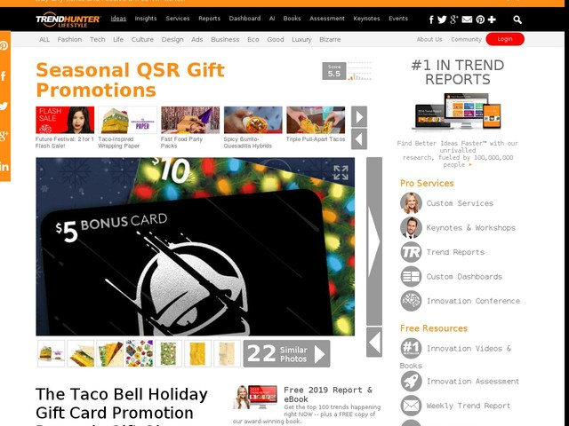 Seasonal Qsr Gift Promotions The Taco Bell Holiday Gift Card