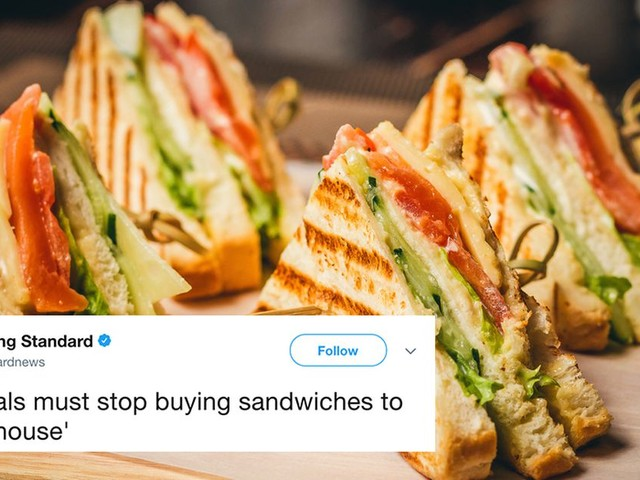 Hey, millennials of London you can still eat sandwiches if you want