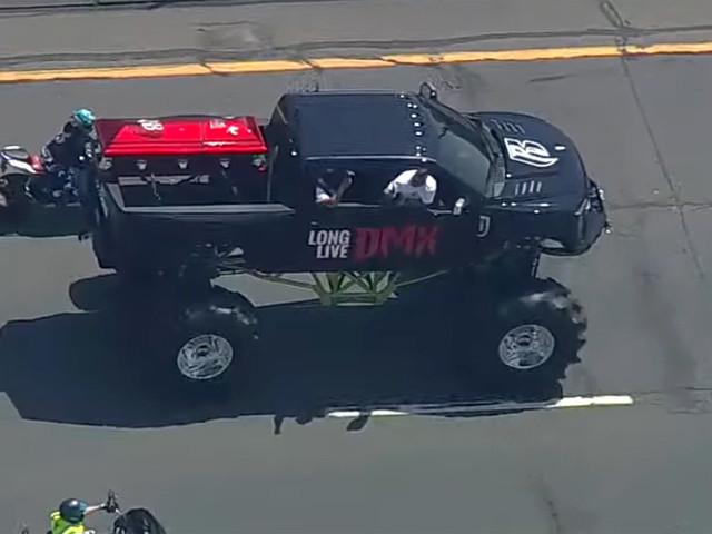 DMX's Casket Rides on Monster Truck En Route to Memorial Service - Watch Video