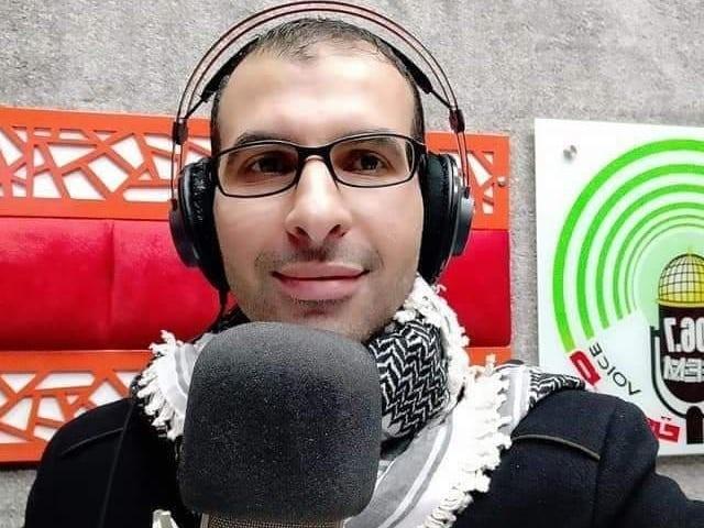 A Palestinian radio journalist was killed in an Israeli airstrike in Gaza