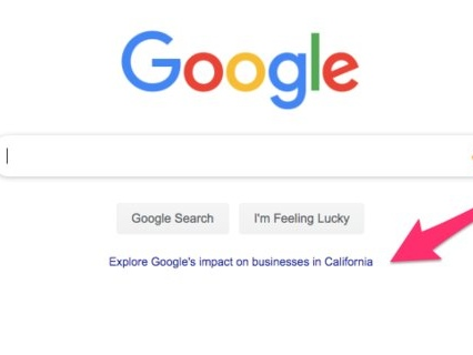 Google is using its famously sparse homepage to brag about how much it helps the economy, and it's a telling sign of the tech backlash (GOOG, GOOGL)