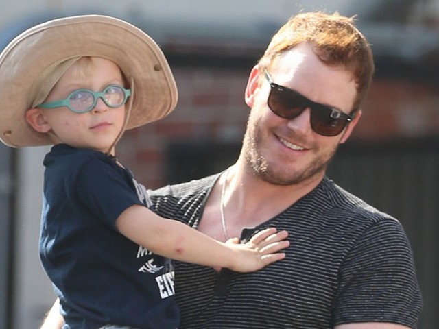 Chris Pratt pictured for first time with son Jack since announcing split from wife Anna Faris
