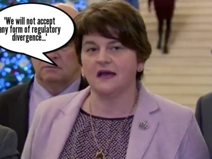 Five times the DUP have been totally fine with regulatory divergence