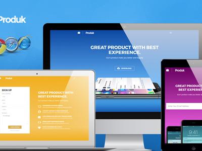 Produk Responsive Showcase Landing Page (Apps)