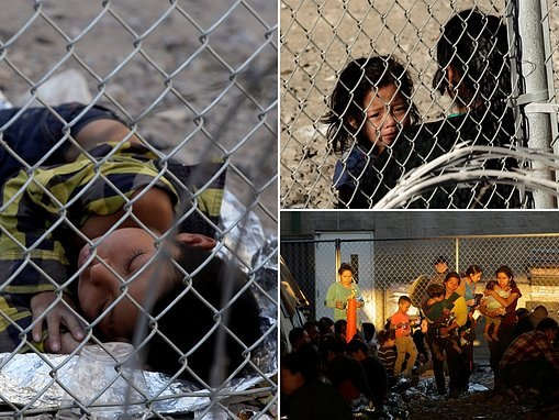 Migrant children sleep on dirt and gravel in -47F temperatures