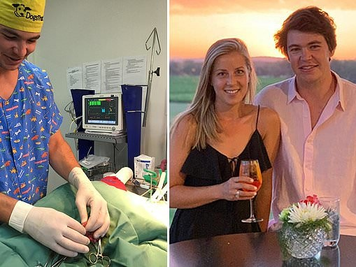 Country footballer and vet bolts from AFL match to save dog bitten by a snake