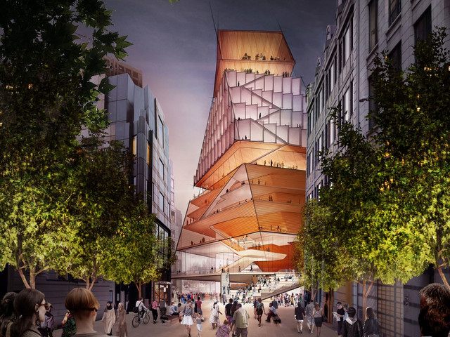 Musical tower to replace the Museum of London