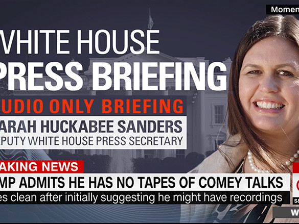 Why are White House briefings heard but not seen?