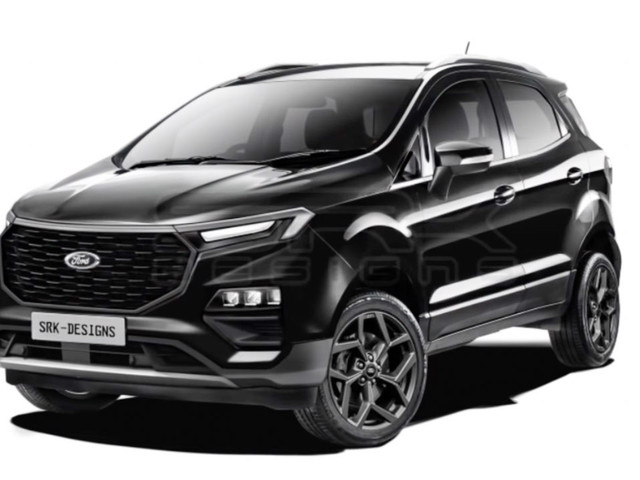 2022 Ford EcoSport New Gen Render In Multiple Colour Options