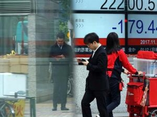 Asian shares fall, tracking Wall St, drop in oil prices