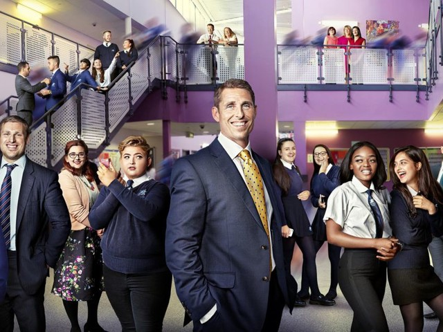 What school is Educating Greater Manchester in and who is the headteacher?