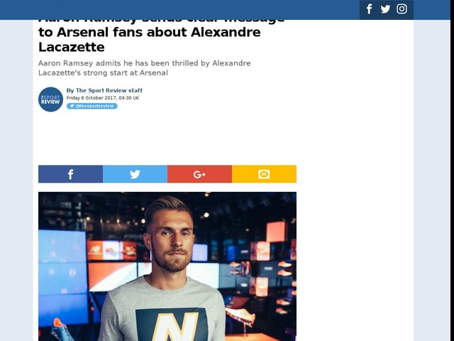 Aaron Ramsey sends clear message to Arsenal fans about Alexandre Lacazette