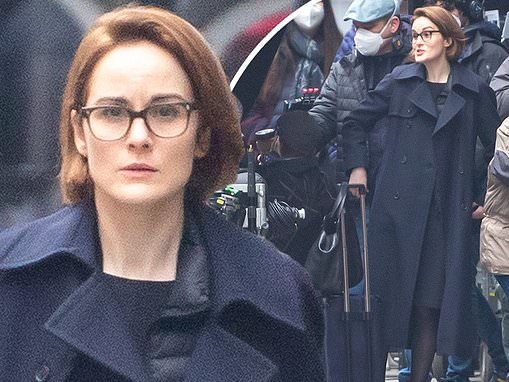 Michelle Dockery transforms into steely prosecutor as she continues to film Anatomy Of A Scandal