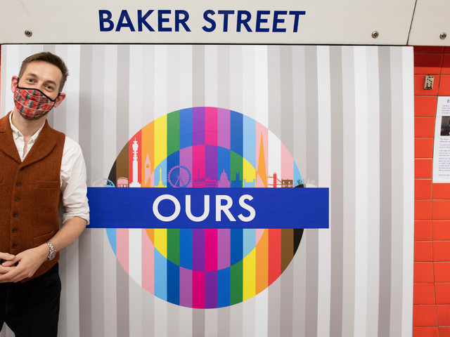 Pride roundels appearing on the London Underground