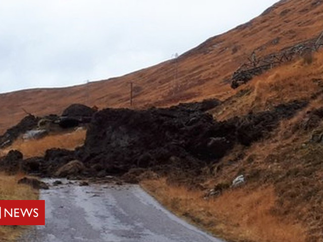 Access to Munros affected by landslip at Kinloch Hourn