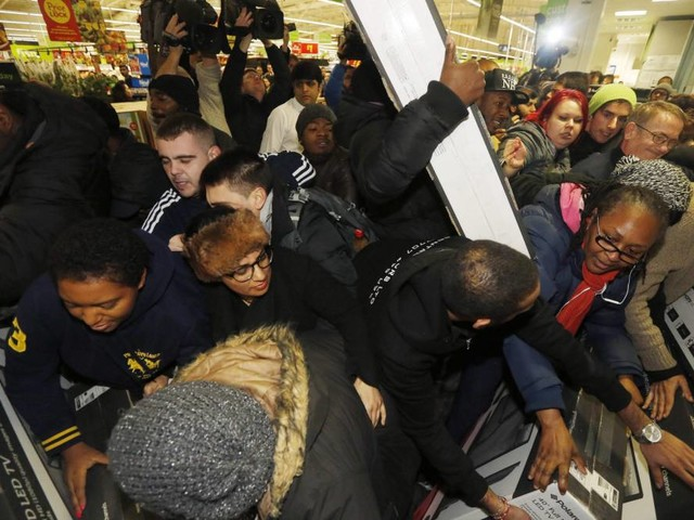 The chaos and carnage of a Black Friday shopping spree
