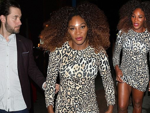 Serena Williams dons clinging leopard mini dress as she is honored at 2018 Imagine Ball in LA