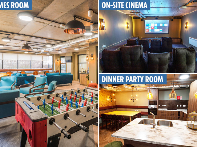 Inside 'Britain's poshest student digs' with cinema, gym and private 'dinner party' room for £780 a month