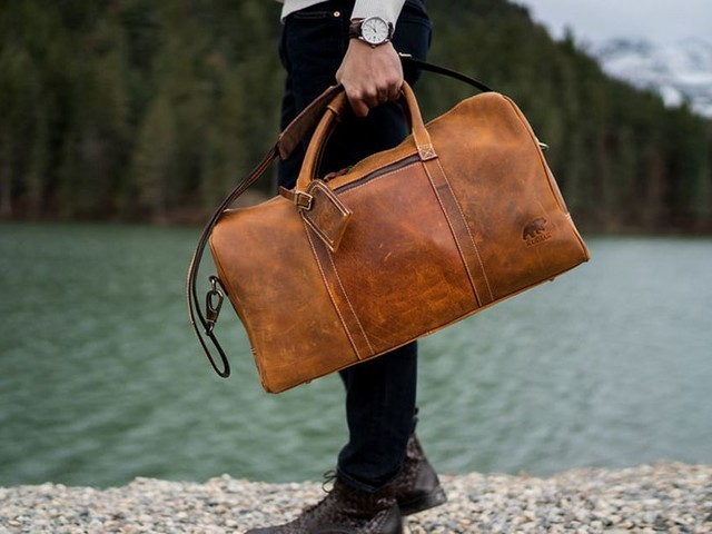 Kodiak Leather duffel bags on sale this weekend with promo code