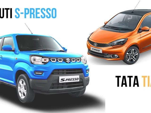 New Maruti Suzuki S-Presso vs Tata Tiago – Specs Comparison