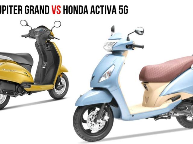 TVS Jupiter Grande Edition VS Honda Activa 5G – Specs Comparison
