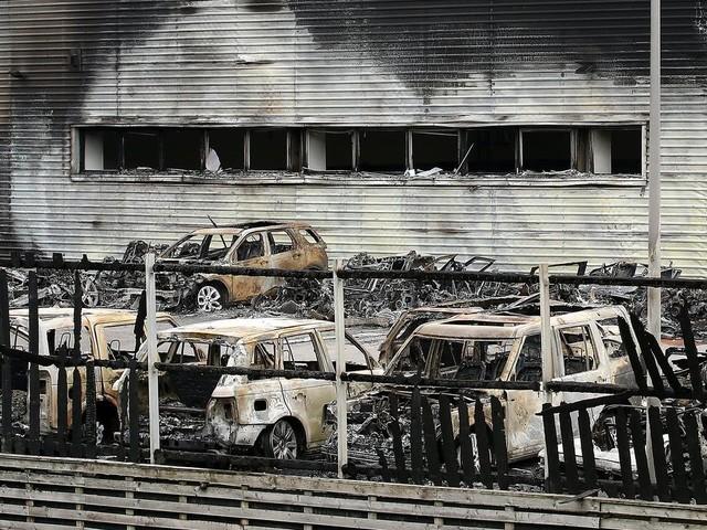 Police investigate arson at Land Rover dealership