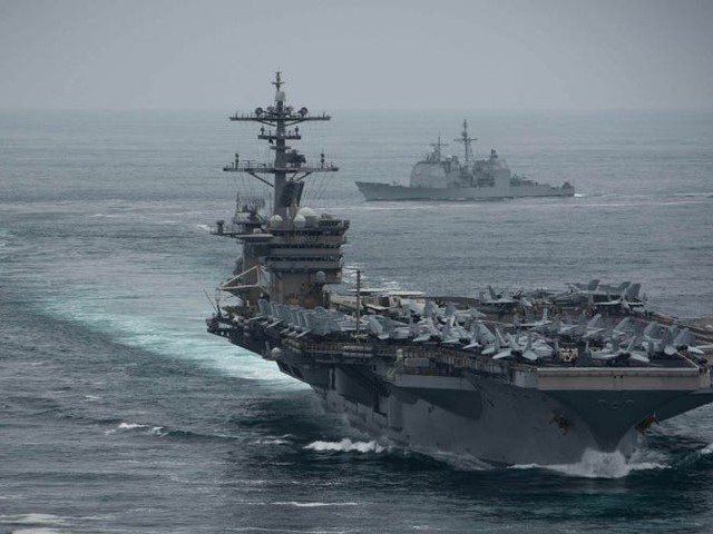 There's been a coronavirus outbreak aboard a deployed US Navy aircraft carrier, and at least 8 sailors have it