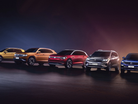 Volkswagen launches model offensive in China; 8 SUVs this year