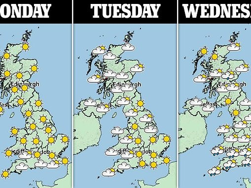 Sunshine set to continue on Easter Monday
